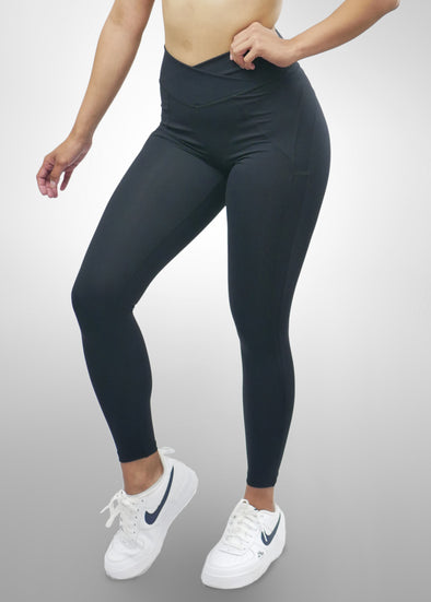 Black High Waisted Scrunch Leggings
