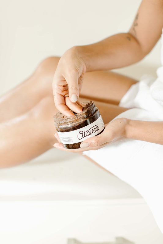 chocolate-coffee, scrub tribe, otavea girls, body scrubs, smile, happy, soft looking skin