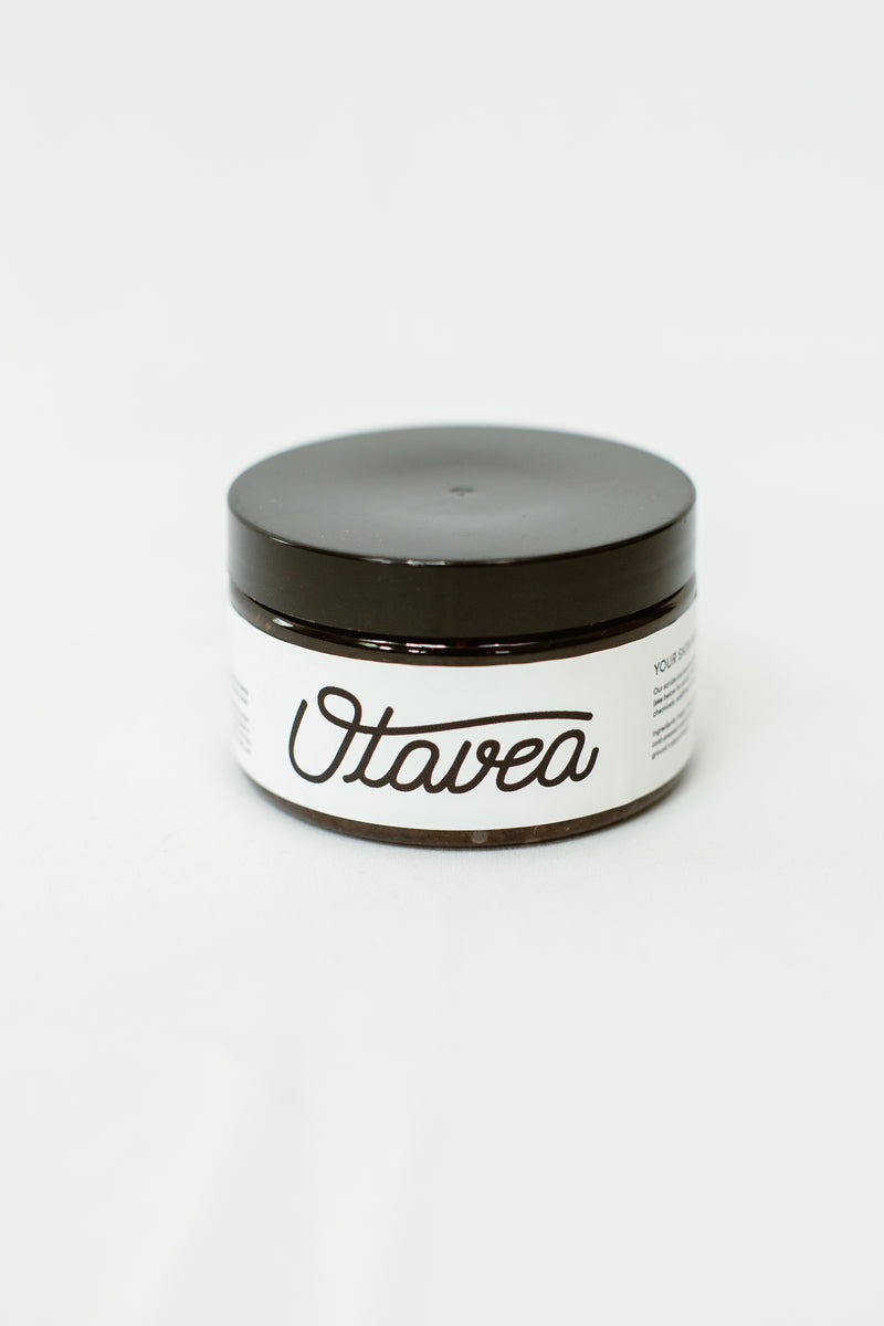 4oz jar of Chocolate Coffee Body Scrub from Otavea