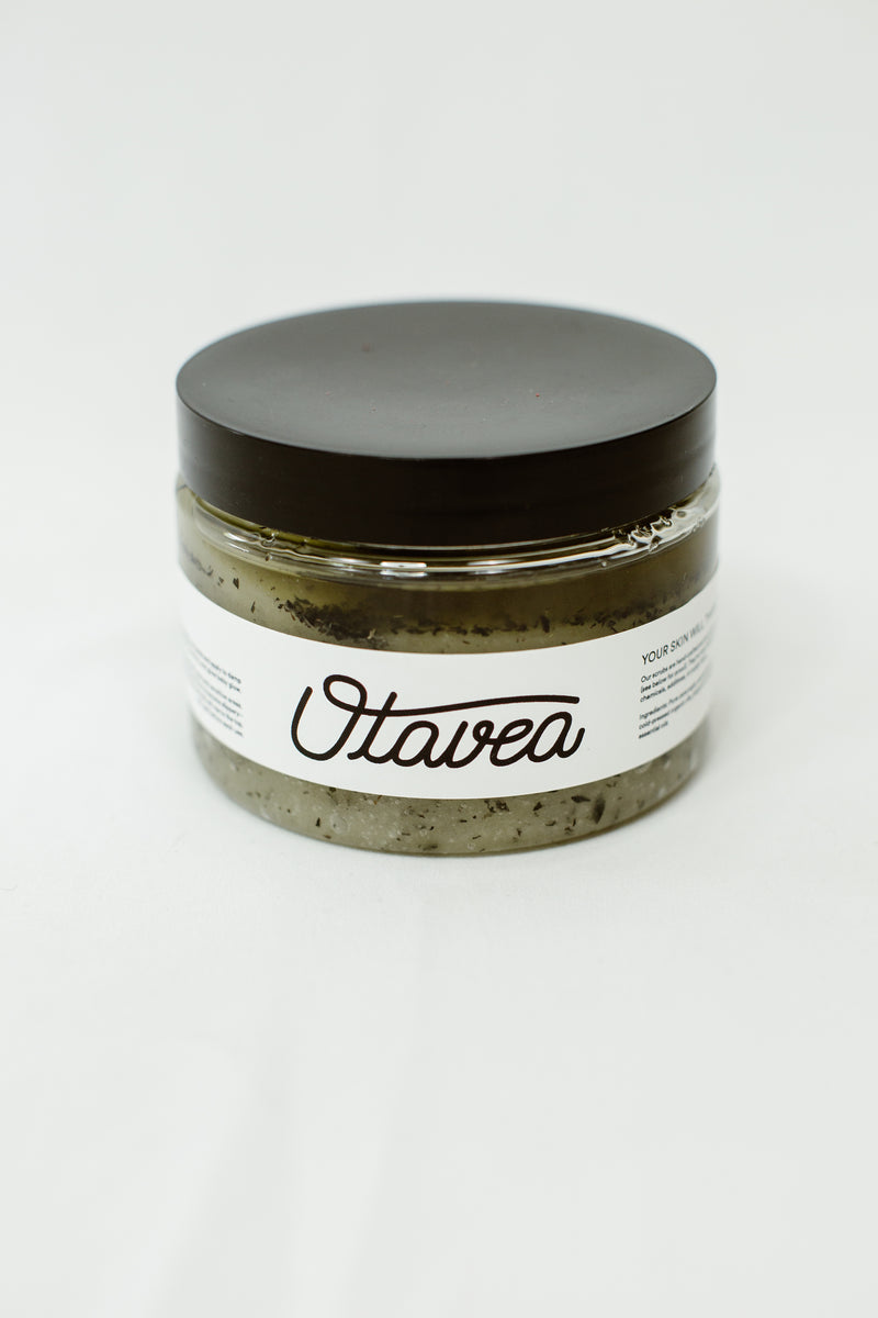12oz jar of Peppermint Body Scrub from Otavea