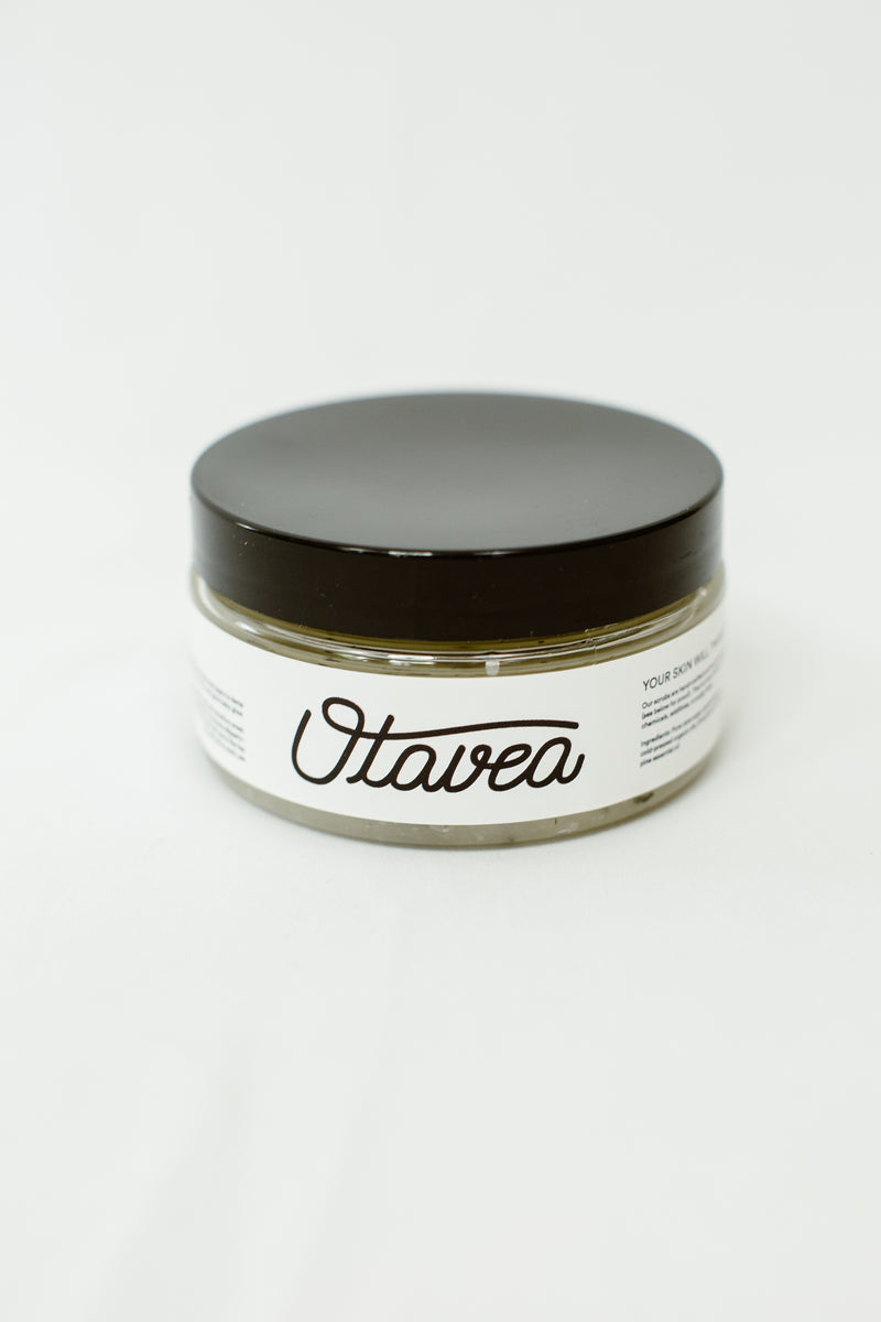 8oz jar of Pine Body Scrub from Otavea