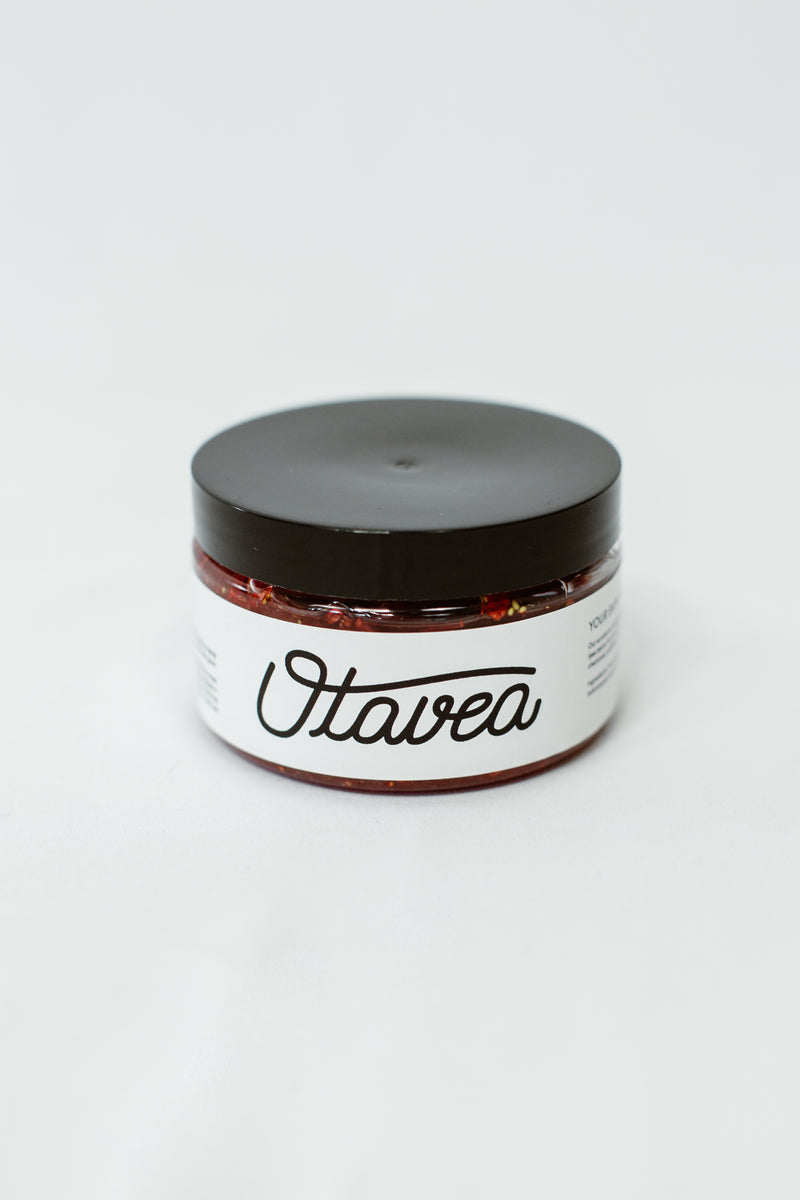 4oz jar of Strawberry Body Scrub from Otavea