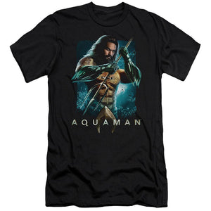 aquaman-movie-jason-momoa-holding-a-trident-premium-canvas-brand-t-shirt-in-black.