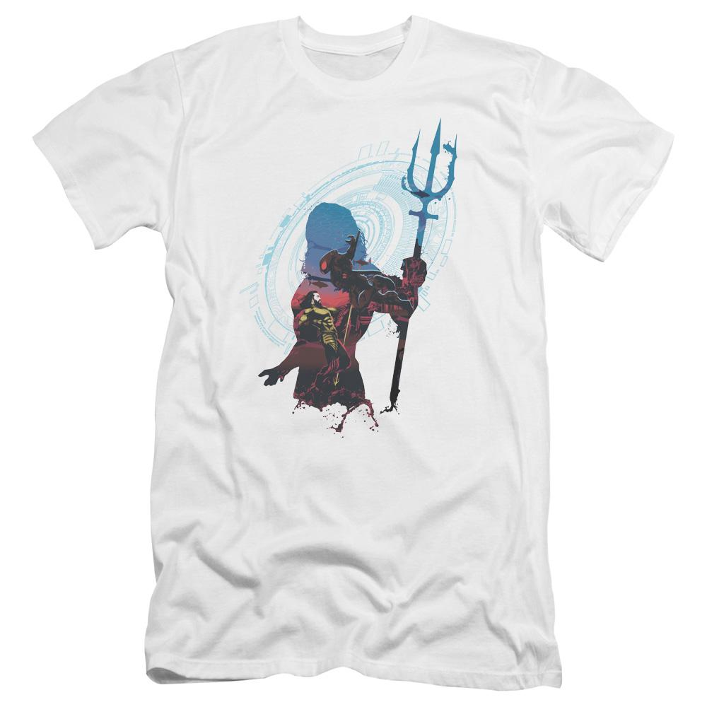 aquaman-movie-cartoon-silhouette-of-aquaman-holding-a-trident-premium-canvas-brand-adult-t-shirt-in-white