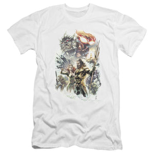 aquaman-movie-jason-momoa-holding-the-trident-standing-with-mira-premium-canvas-brand-adult-t-shirt-in-white