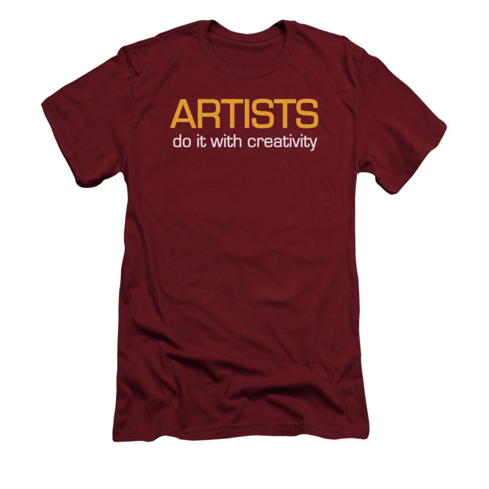 artists-do-it-creatively-premium-canvas-brand-adult-t-shirt-in-red