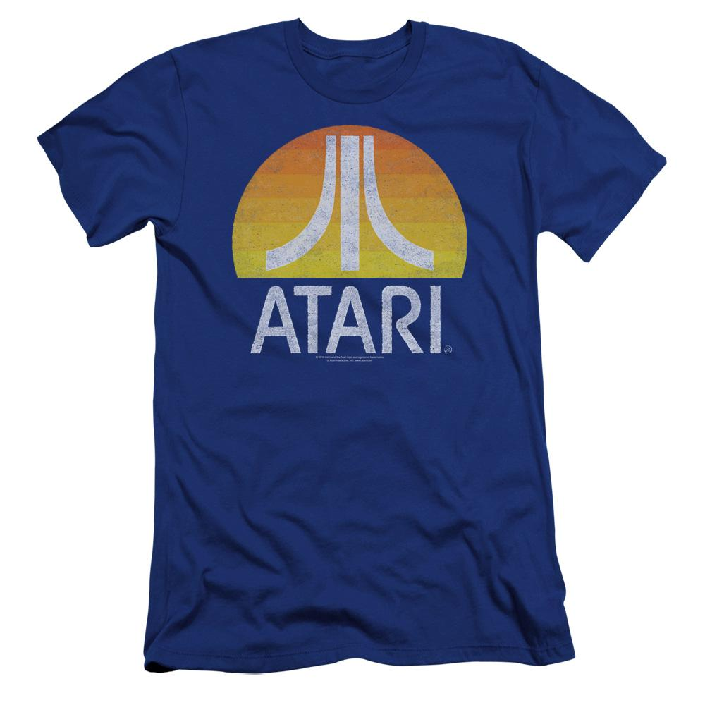 atari-logo-sunrise-eroded-premium-canvas-brand-adult-t-shirt-in-blue