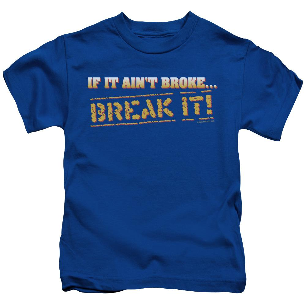 if-it-ain't-broke-break-it-with-the-letters-in-the-word-break-it-broken-into-gold-pieces-kids-t-shirt-in-blue