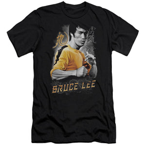 profile-image-of-bruce-lee-in-a-fighting-stance-premium-canvas-brand-t-shirt-in-black