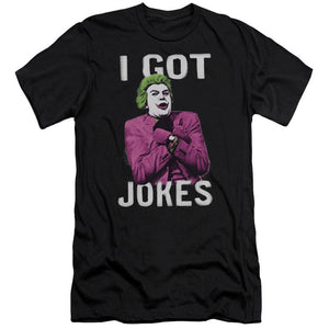 the-joker-from-batman-comics-saying-I-got-jokes-premium-canvas-brand-t-shirt-in-black