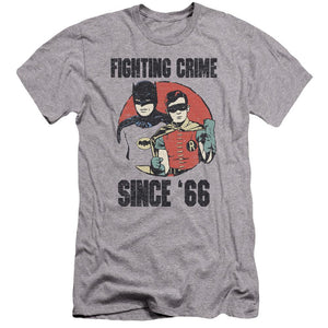classic-batman-and-robin-standing-side-by-side-fighting-crime-since-66-premium-canvas-brand-adult-t-shirt-in-gray