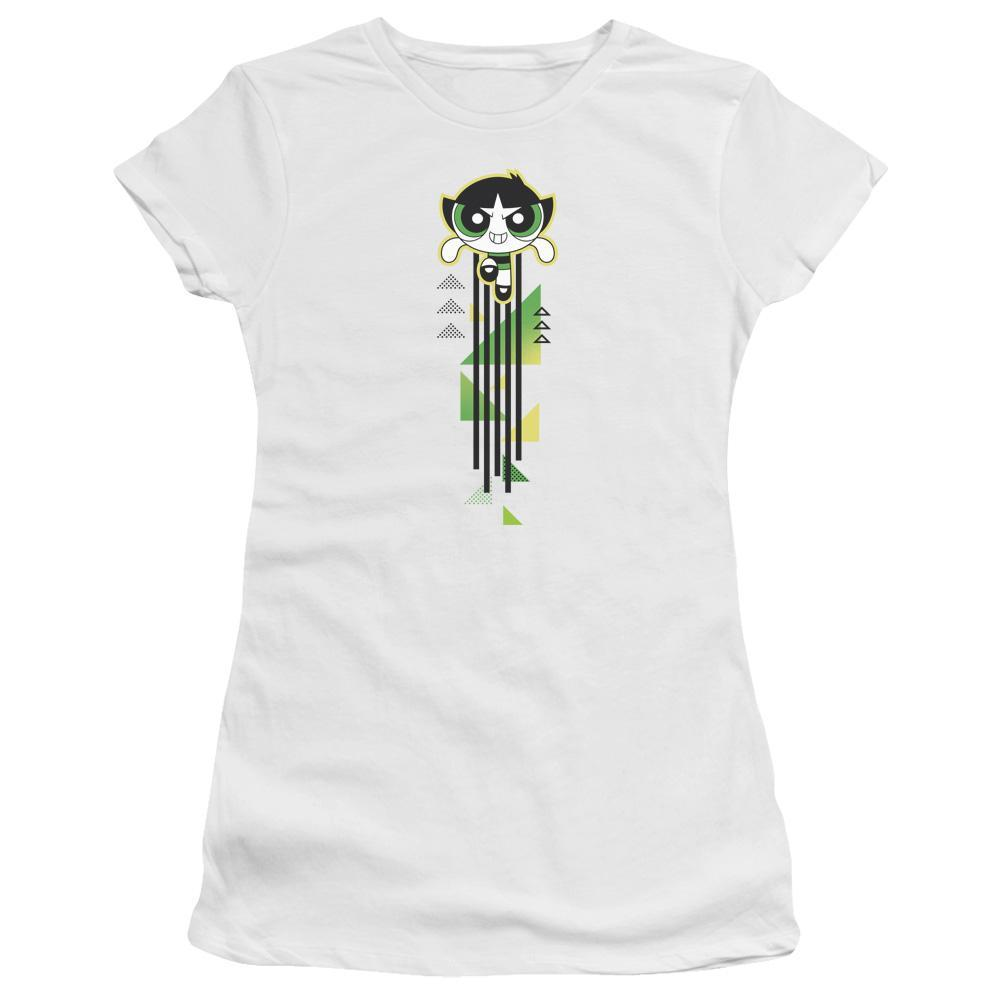 powerpuff-girls-buttercup-flying-streak-premium-bella-brand-t-shirt-in-white