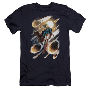 supergirl-flying-through-a-meteor-shower-premium-canvas-brand-t-shirt-in-black