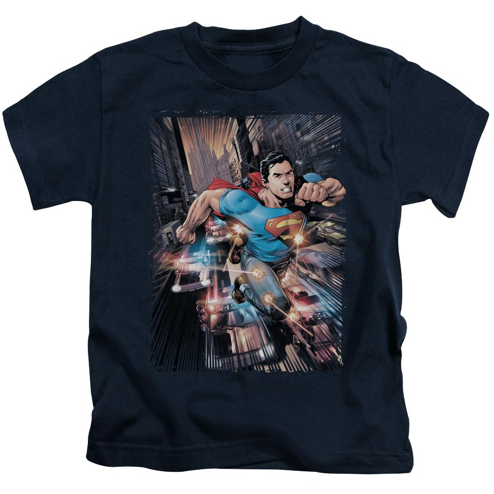 superman-flying-above-cars-kids-t-shirt-in-navy-blue