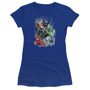 justice-league-team-flying-through-the-air-bella-brand-t-shirt-in-blue