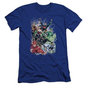 justice-league-team-flying-through-the-air-premium-canvas-brand-t-shirt-in-blue