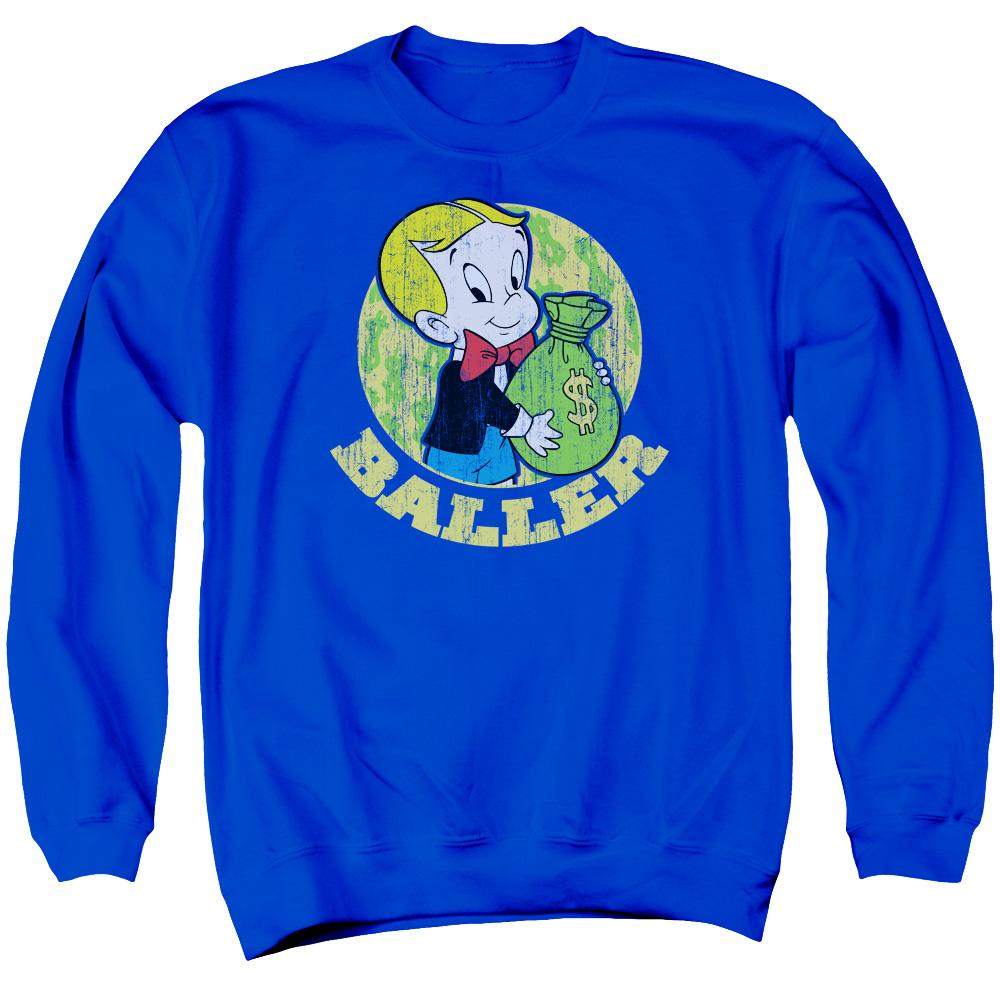 richie-rich-holding-a-bag-of-money-crew-neck-sweatshirt-in-blue