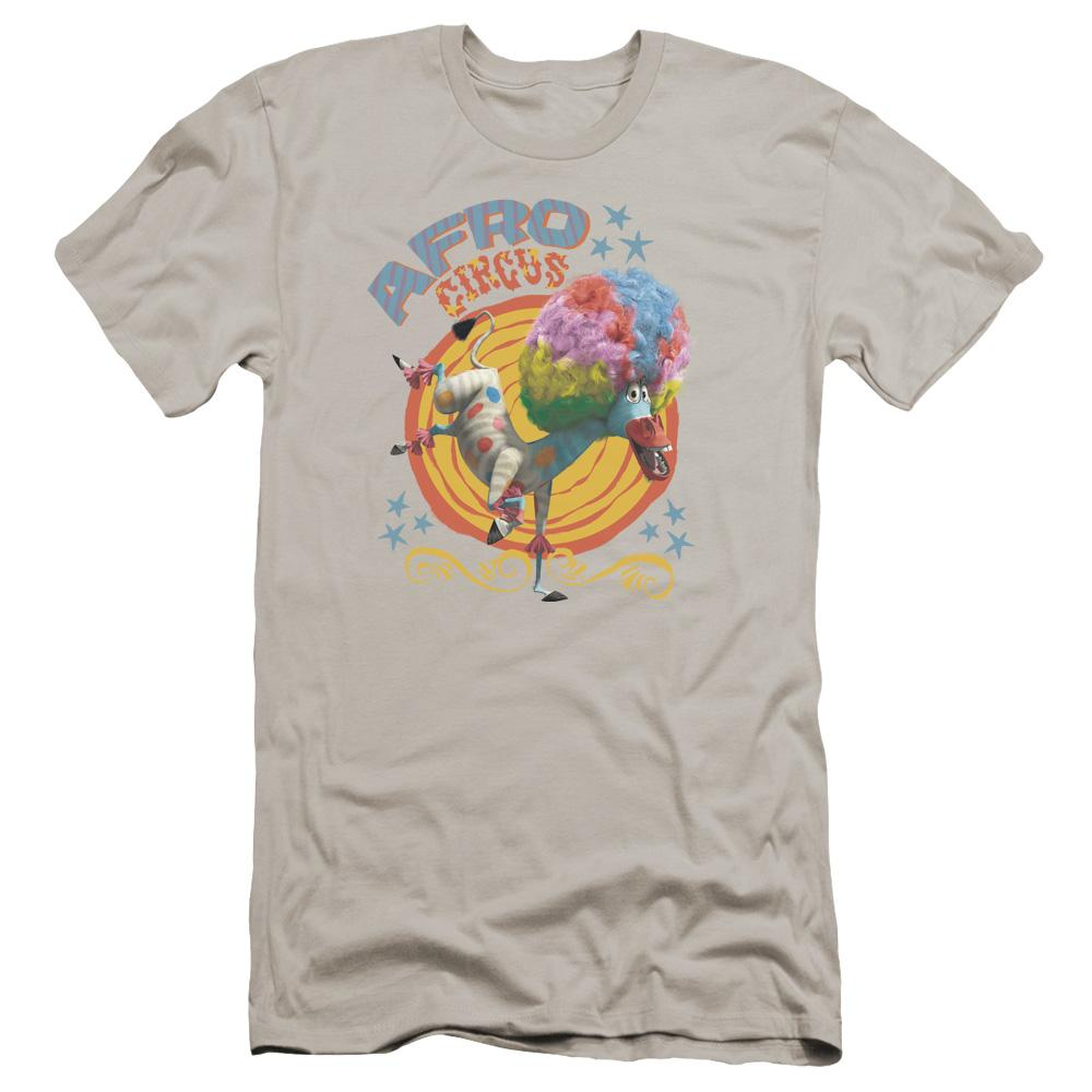 marty-from-disney's-madagascar-dancing-while-wearing-a-colorful-afro-premium-canvas-brand-adult-t-shirt-in-silver