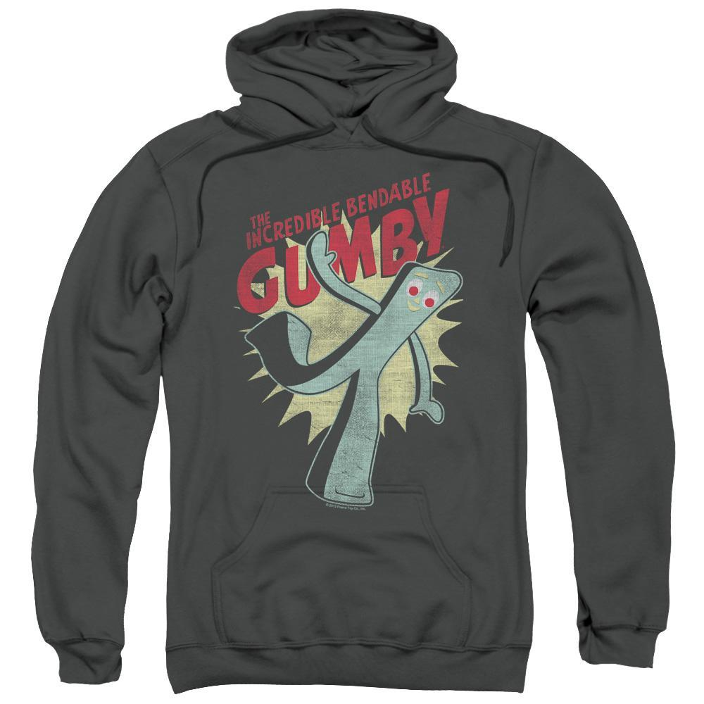 gumby-smiling-and-waving-hoodie-in-charcoal-gray