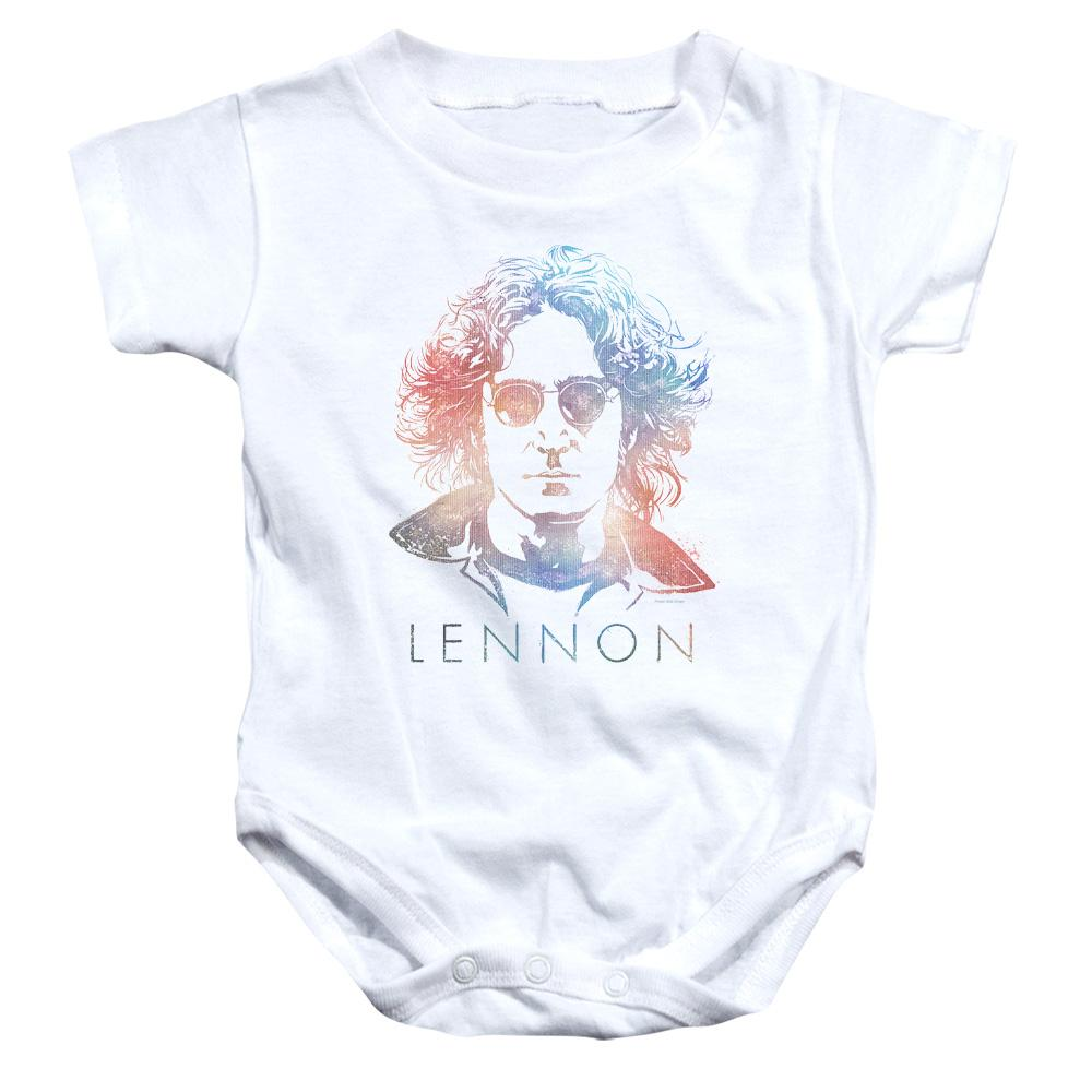 colorful-sketch-of-john-lennon-infant-snapsuit-in-white