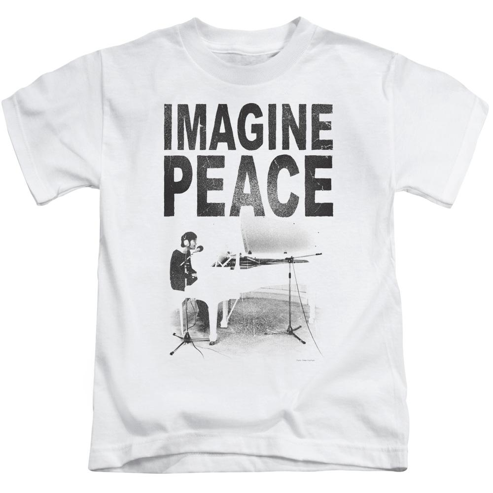 john-lennon-playing-piano-imagine-peace-kid's-t-shirt-in-white