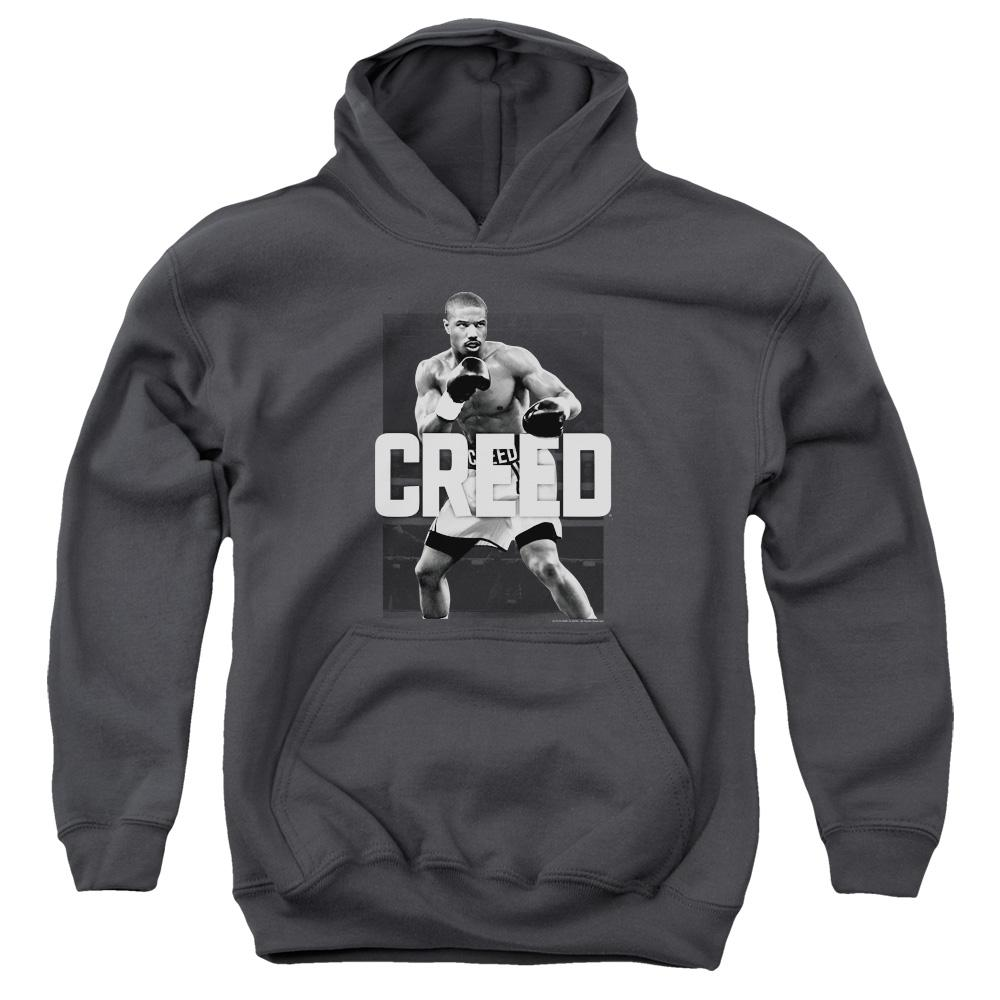 michael-b.jordan-as-adonis-creed-in-a-boxing-stance-ready-to-fight-youth-hoodie-in-charcoal-gray
