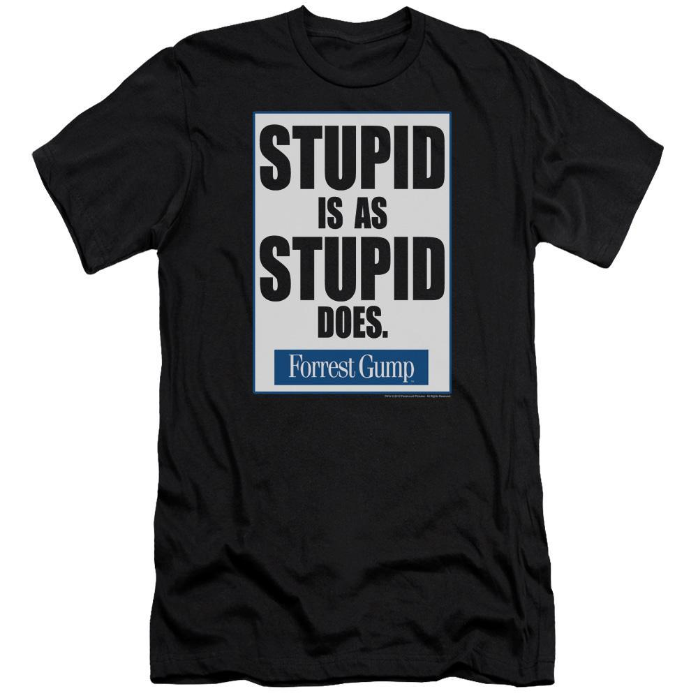 forrest-gump-premium-canvas-brand-t-shirt-in-black-with-the-words-stupid-is-as-stupid-does