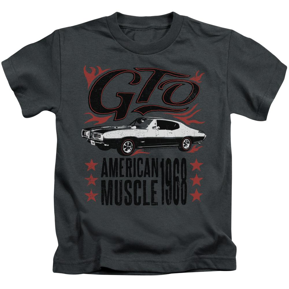 pontiac-gto-written-in-black-surrounded-by-red-flames-above-the-car-below-the-car-are-the-words-american-muscle-1968-kids-t-shirt-in-charcoal-gray