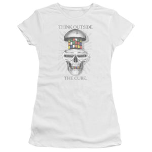 black-and-white-open-skull-with-a-colorful-rubik's-cube-brain-wearing-white-sunglasses-premium-bella-brand-t-shirt-in-white
