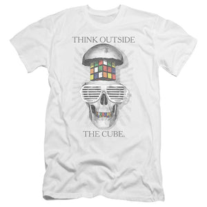 black-and-white-open-skull-with-a-colorful-rubik's-cube-brain-wearing-white-sunglasses-premium-canvas-brand-t-shirt-in-white
