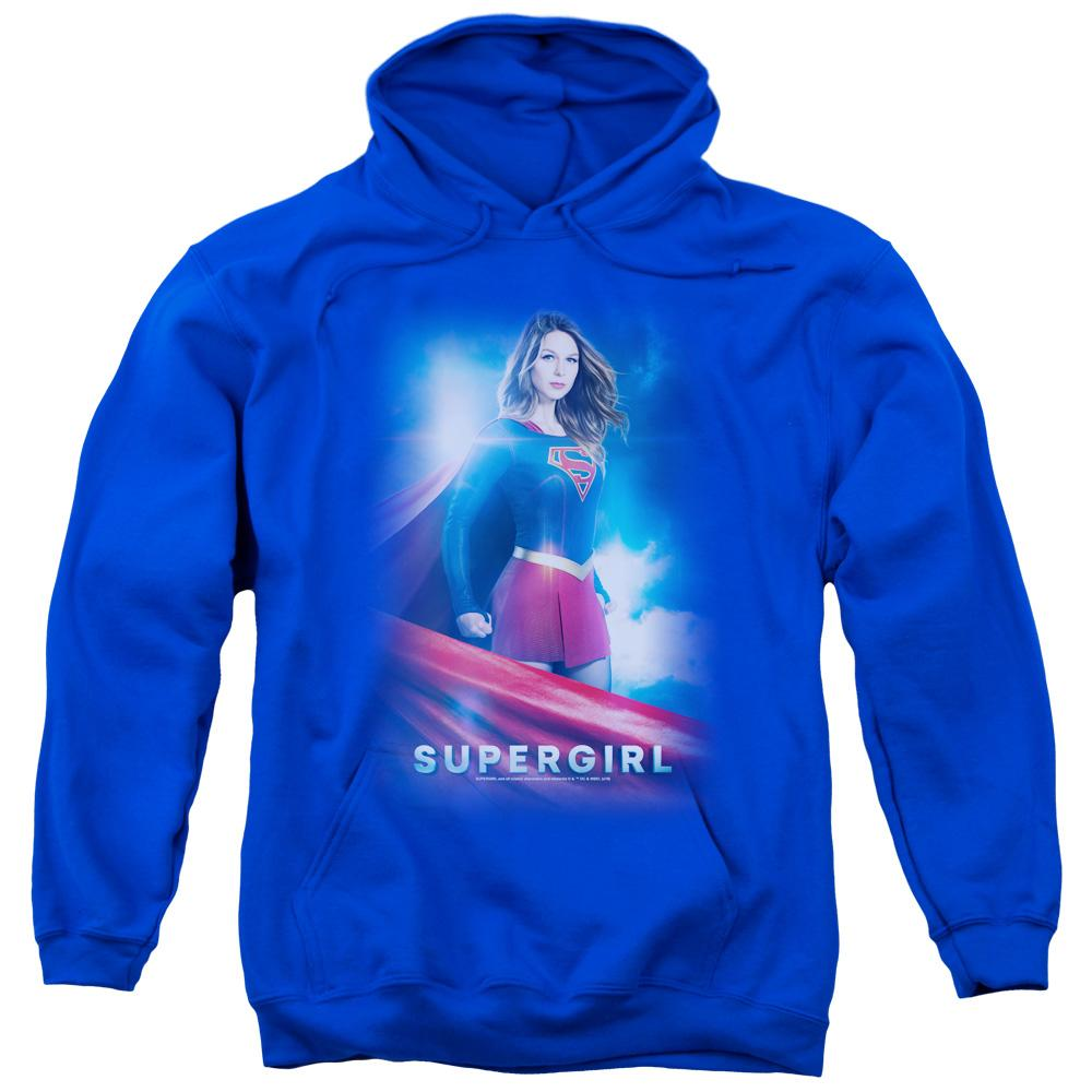 supergirl-color-portrait-adult-hoodie-in-blue