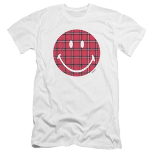plaid-smiley-face-premium-canvas-brand-t-shirt-in-white