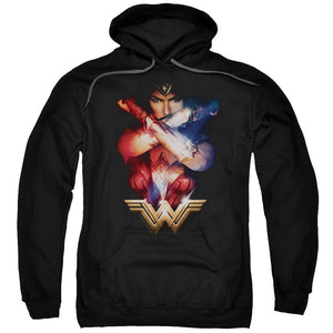 wonder-woman-movie-crossing-her-bracelets-in-front-of-her-chest-premium-canvas-brand-t-shirt-in-black