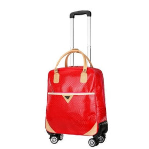 22 inch Women Travel Luggage Trolley Bag with Wheels