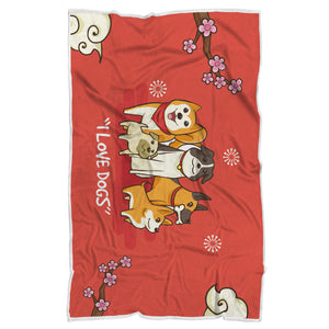 Dog Lover Sherpa Blanket