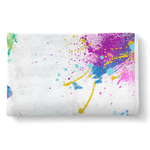 Colorful Elephant Sherpa Blanket