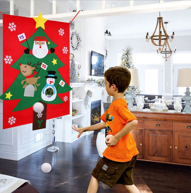 Hanging Toss Game Christmas Tree