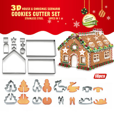 3D Christmas Cookie Cutter Molds