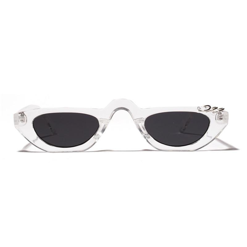 Flat Top Small Oval Cat Eye Sunglasses