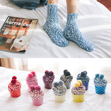 Cosy Cupcake Socks - Great Stocking Stuffer / Christmas Gift