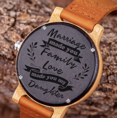 Marriage Made You Family for Daughter-in-Law Wooden Watch