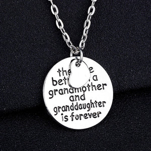 The Love Between Grandmother And Granddaughter Is Forever Stamped Charm Pendant Christmas Gift