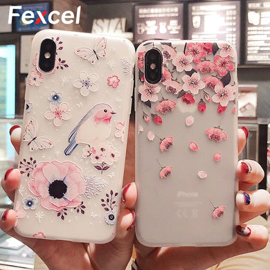 Floral Silicon Phone Case, Perfect As Gift This Christmas