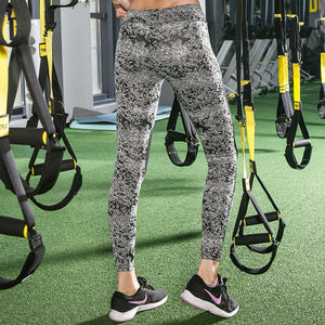 Mesh Patchwork Printed Leggings