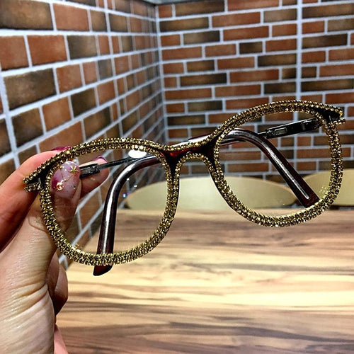 Lux Rhinestone Frame Cat Eye Sunglasses