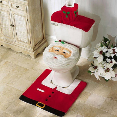 Santa Claus Christmas Bathroom Set