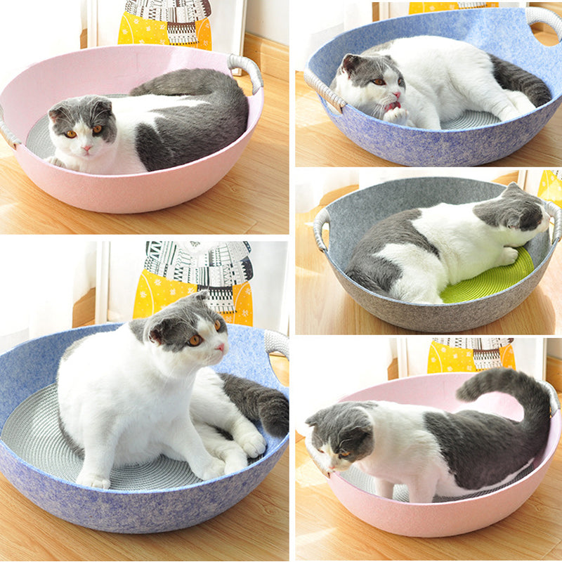 Felt Cloth Cat Sleeping Pet Basket