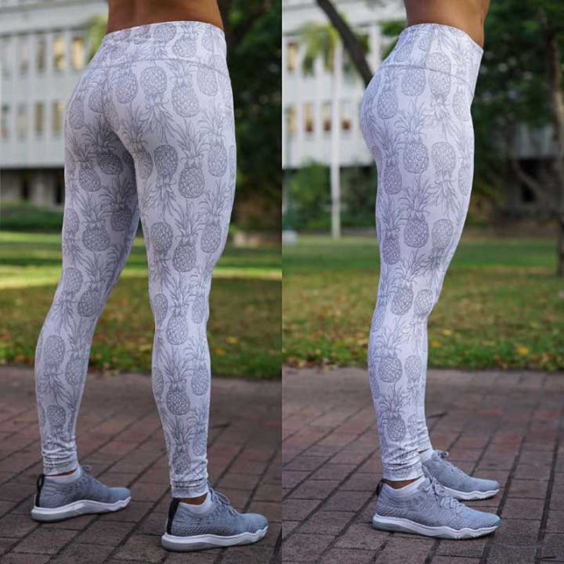 Pineapple Print Leggings for Women