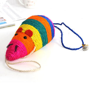 Sisal Mouse Cat Toys with Small Bell