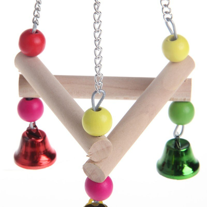 Bird Swing Cage Toy with Bells